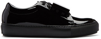 Acne Studios Black Patent Adriana Sneakers $395 thestylecure.com