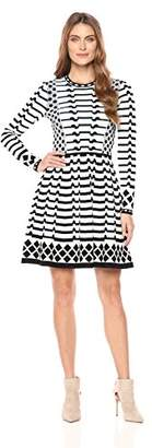 Eliza J Women's Long Sleeve Sweater Dress