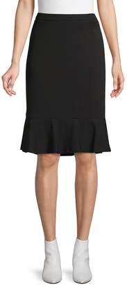 Calvin Klein Collection Flounce-Hem Pencil Skirt