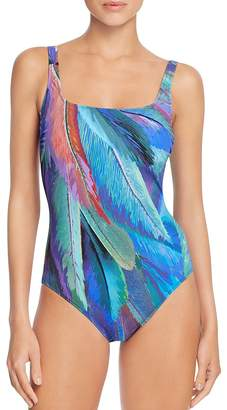 Gottex Macaw Maillot One Piece Swimsuit $168 thestylecure.com