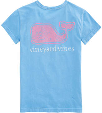 Vineyard Vines Girls Two-Tone Vintage Whale Pocket Tee