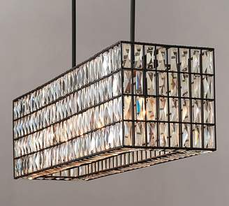 Pottery Barn Adeline Crystal Rectangular Chandelier