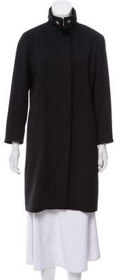 Versace Pointed Collar Knee-Length Coat