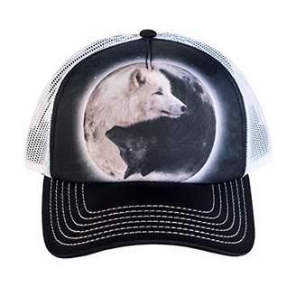 The Mountain Men's Yin Yang Wolves Foam Trucker Hat