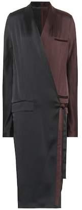 Haider Ackermann Satin wrap dress