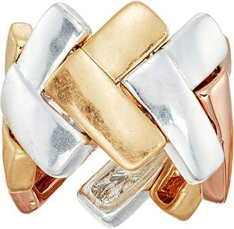 Robert Lee Morris Tricolore Tri-Tonal Chevron Ring