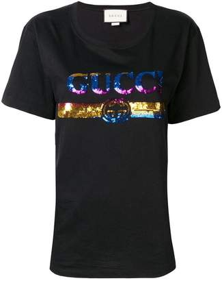 Gucci sequinned logo T-shirt