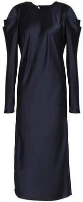 Tibi Celestia Pleated Satin Midi Dress