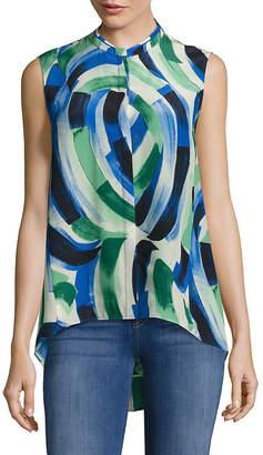Lafayette 148 New York Sari Blouse Printed Silk Top