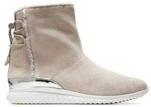Cole Haan Studio Grand Faux Shearling-Lined Suede Ankle Boots
