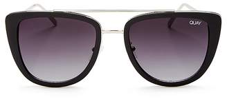 Quay French Kiss Oversized Sunglasses, 54mm $60 thestylecure.com
