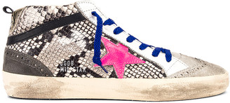 Golden Goose Mid Star Sneaker in Rock Snake & Fuchsia | FWRD
