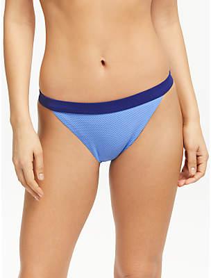 John Lewis & Partners Paradise Lost Colour Block Banded Bikini Bottoms