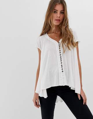 Free People Highland button down t-shirt