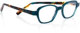 Eyebobs Haute Flash Square Two-Tone Readers, Blue/Tortoise