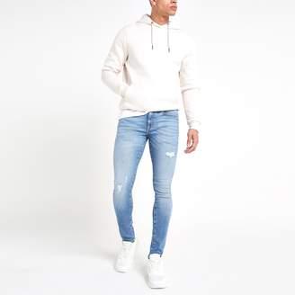 Mens Light Blue Danny super skinny jeans