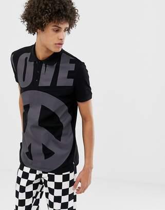 Love Moschino allover print polo shirt