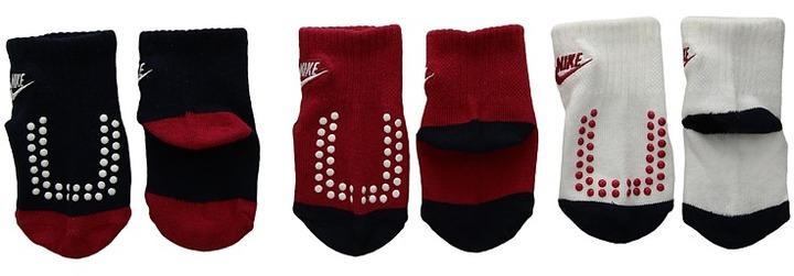 Nike Kids - 3-Pair Pack Futura Gripper Socks Boys Shoes