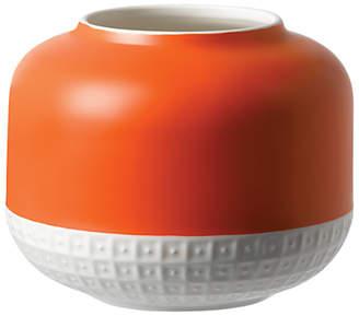 Royal Doulton HemingwayDesign for Rose Vase, H14cm, Orange/White