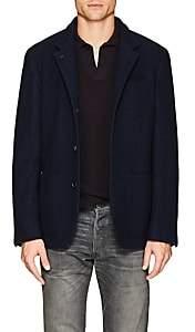 Brunello Cucinelli Men's Wool Flannel Jacket - Navy