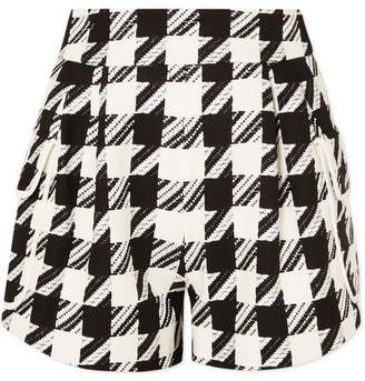 Pierre Balmain Houndstooth Tweed Shorts - Black