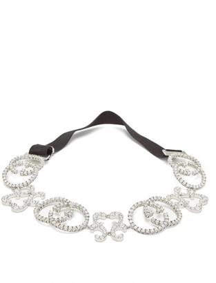 Gucci Gg Pave Crystal Headband - Womens - Crystal