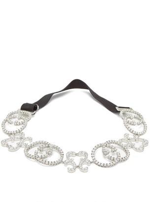 Gucci Gg Pave Crystal Headband - Womens - Crystal
