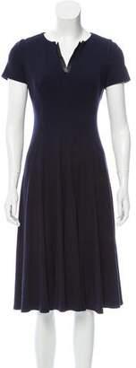 Lafayette 148 V-Neck Short Sleeve Dress