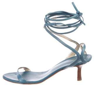 Giuseppe Zanotti Leather Lace-Up Sandals