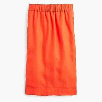 J.Crew Petite pull-on linen skirt