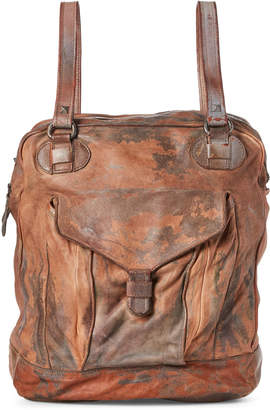 Giorgio Brato Sand Distressed Leather Backpack