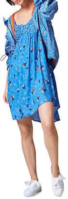 Esprit Floral Cold-Shoulder Peasant Dress