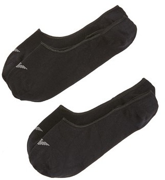 Emporio Armani 2 Pack Basic Invisible Loafer Socks $30 thestylecure.com