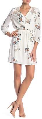 Daniel Rainn DR2 by Floral Print Long Sleeve Dress