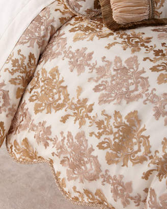 Sweet Dreams Isadora Embroidered Damask Queen Duvet