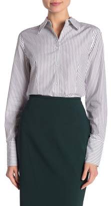 Modern American Designer Striped Collared Oxford Shirt