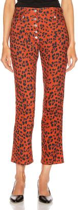 Miaou Junior Pant in Red Leopard | FWRD