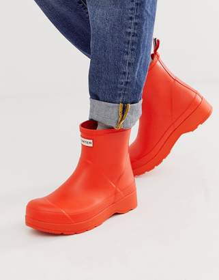 Hunter play boots in orange