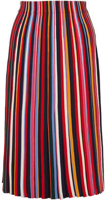 Tory Burch Ellis Pleated Stretch-knit Midi Skirt - Red