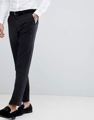 Asos Design DESIGN slim tuxedo suit pants in black