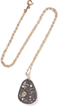 Cvc Stones Adorata 18-karat Gold, Stone And Diamond Necklace