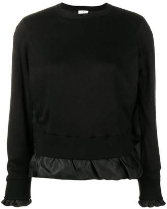 Comme des Garcons satin underlayer knitted jumper