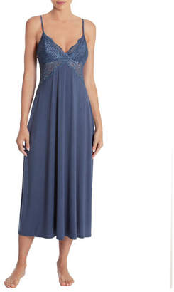 Jonquil Lace-Trim Sleeveless Long Gown