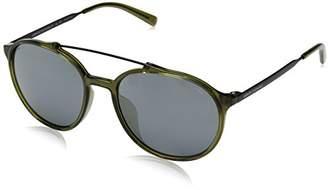 Armani Exchange Men's Injected Man Sunglass 0AX4069SF Non-polarized Iridium Round Sunglasses