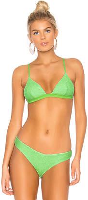 Onia Danni Smocking Bikini Top