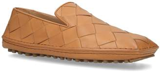 Bottega Veneta Leather Intrecciato Driving Shoes