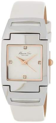 Kenneth Cole New York Women's Classic Leather Strap Watch, 24 x 29mm