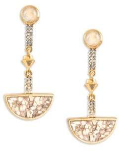 Shana Gulati Tulum Arago M Champagne Diamond& Sliced Raw Diamond Drop Earrings