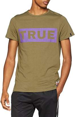 True Religion Men's Crew Shirt True Olive T-Shirt,3XL