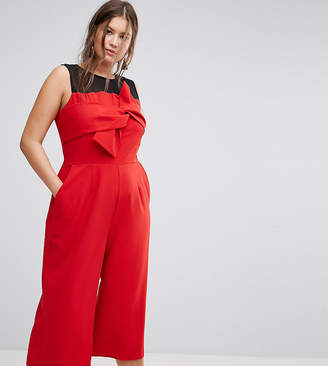 Simply Be Bow Front Culotte Jumpsuit